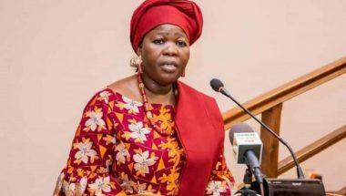 Mariam Chabi Talata Zimé à l'occasion de la cérémonie de présentation de vœux au président de l'Assemblée nationale. @Andric Lokossi / CC-PAN